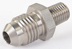 "Aeromotive 1/16"" NPT / -04 AN Male Flare Stainless Steel Vacuum"