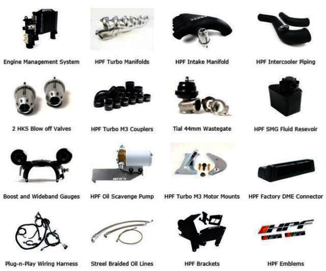 HPF E46 M3 Stage 3 Turbo Kit / 800hp - 950hp : Suprasport nl